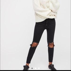 Free People High-Rise Busted Skinny Jeans